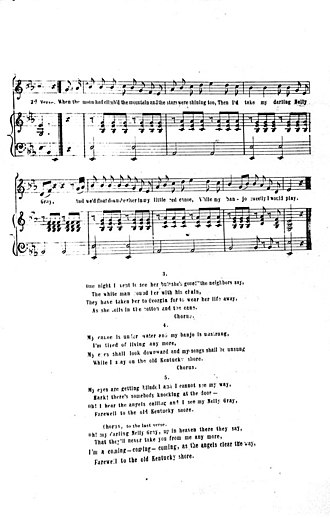 Nelly Gray (song) - Image: Darling Nelly Gray page 3