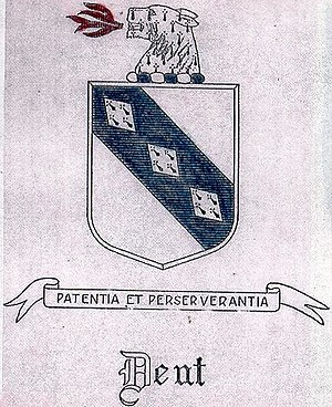 Thomas Brooke Jr. - Dent family coat of arms