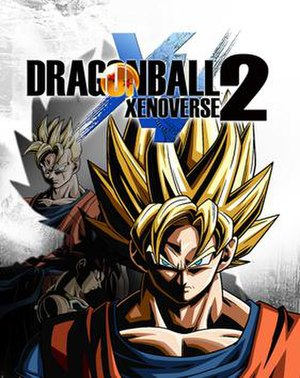 Dragon Ball Xenoverse 2 - Cover art featuring Super Saiyan Future Gohan, Bardock, and Super Saiyan Goku