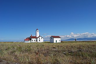 Dungeness Spit - The New Dungeness Lighthouse located at the end of the spit
