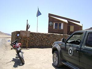 Pan de Azúcar National Park - Entrance to the park