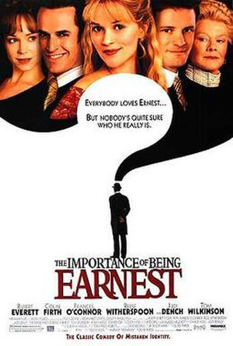 The Importance of Being Earnest (2002 film) - Theatrical release poster