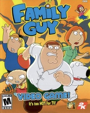 Family Guy Video Game! - North American cover art featuring the Griffin family