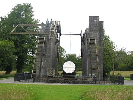 The great telescope of Birr, the Leviathan of Parsonstown. Modern day remnants of the mirror and support structure.