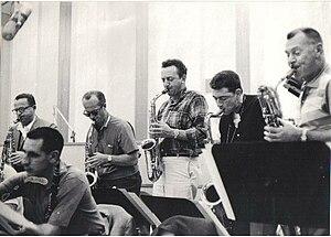 Gus Bivona - In a recording session.