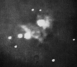 Astrophotography - Henry Draper's 1880 photograph of the Orion Nebula, the first ever taken.