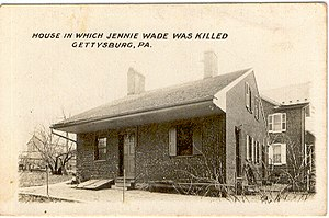 Ginnie Wade - Early 1900s photograph of Jennie Wade's house