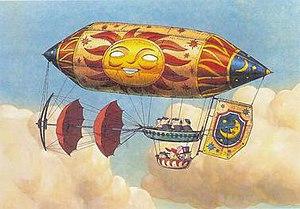 Kūsō no Sora Tobu Kikaitachi - Image: Imaginary flying machines