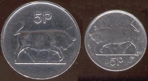 Five pence (Irish coin) - Image: Irish five pence (decimal coin)