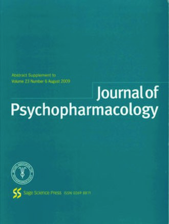Journal of Psychopharmacology - Image: Journal of Psychopharmacology monthly issue cover