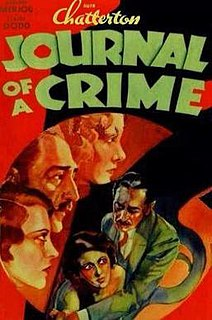<i>Journal of a Crime</i> 1934 film by William Keighley