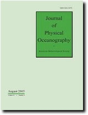 Journal of Physical Oceanography - Image: Jpocover