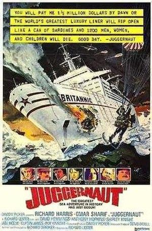Juggernaut (1974 film) - original film poster by Robert McCall