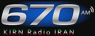 KIRN - Image: KIRN 670Radio Iran logo