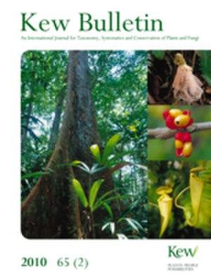 Kew Bulletin - Image: Kew Bulletin cover