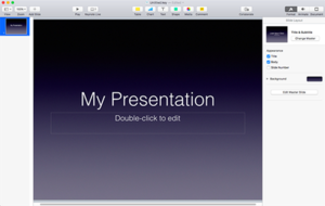 Keynote (presentation software) - Image: Keynote 7.0.5