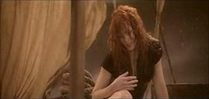 """Les Mots (song) - Mylène Farmer on the raft in the music video """"Les Mots"""". This scene shows the similarities with Théodore Géricault's painting Raft of the Medusa."""