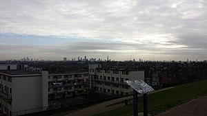 Dartmouth Park - East London skyline from Dartmouth Park Hill