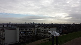 Dartmouth Park - East London skyline from Dartmouth Park Hill