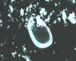 Manuhangi - NASA picture of Manuhangi atoll