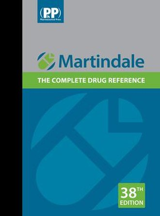 Martindale: The Complete Drug Reference - Pictured is the 38th edition of Martindale, published in June 2014.