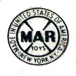 Marx logo on a lighted Watchman Tower from a train set.