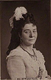 Mrs Howard Paul British singer and opera singer