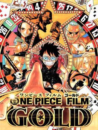 One Piece Film: Gold - Japanese release visual poster