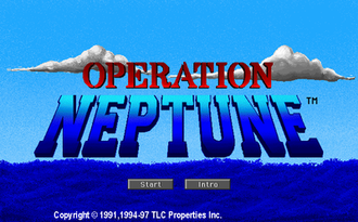 Operation Neptune (video game) - Operation Neptune's Title Screen