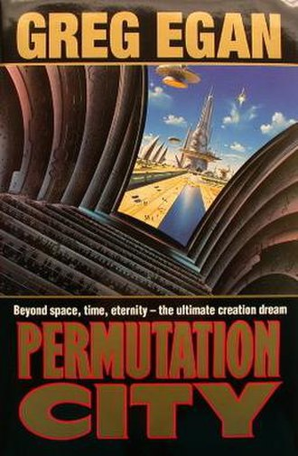 Permutation City - Cover of first edition (hardcover)