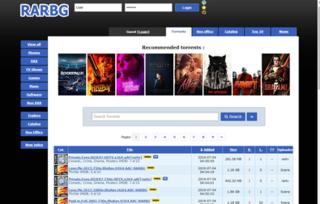 RARBG BitTorrent metasearch engine