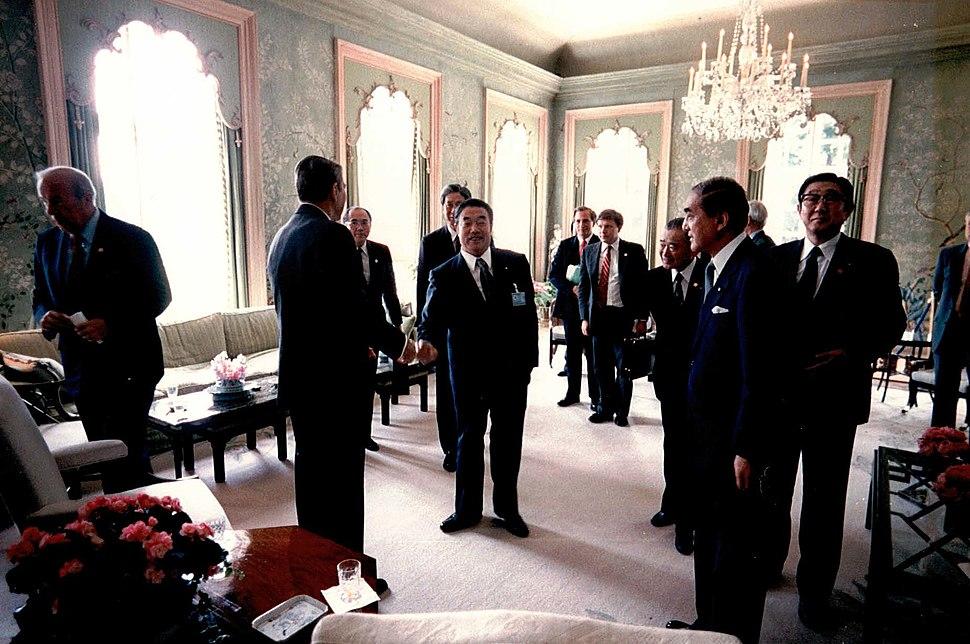 Reagan Japanese Meetings London 1984