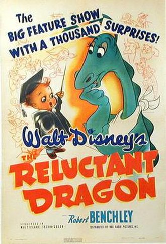 The Reluctant Dragon (1941 film) - Original theatrical poster for The Reluctant Dragon