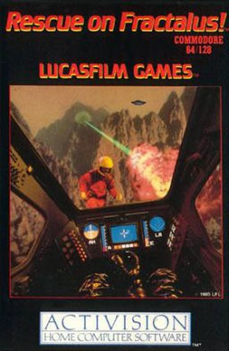 Rescue on Fractalus! - European Commodore 64/128 cover
