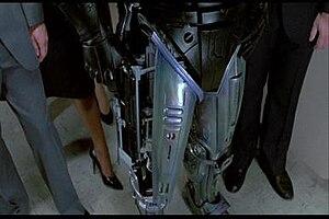 RoboCop (character) - RoboCop holstering weapon