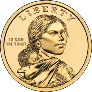 St. Louis University High School - Image: Sacagawea dollar obverse
