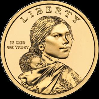 St. Louis University High School - Image: Sacagawea dollar obverse