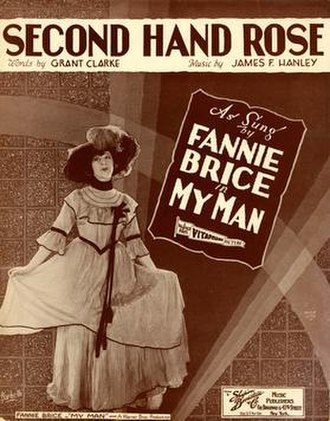 Second Hand Rose (song) - Image: Second Hand Rose Fanny Brice