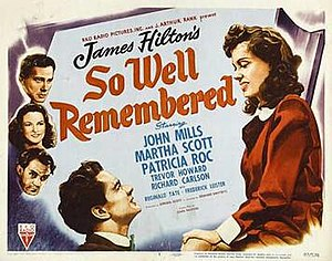 So Well Remembered - Theatrical poster