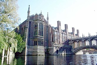 St John's College Old Library, Cambridge - The Old Library seen from the River Cam
