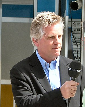 Steve Rider - Steve Rider presenting the 2006 Bahrain Grand Prix, his first for ITV Sport.