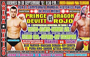CMLL Super Viernes (September 2012) - Promotional poster for the September 28 Super Viernes event