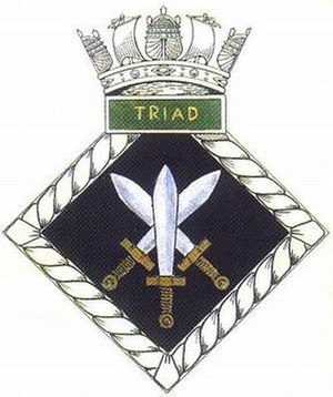 HMS Triad (N53) - Image: TRIAD badge 1