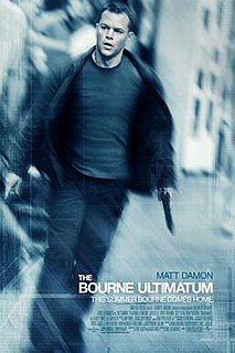 <i>The Bourne Ultimatum</i> (film) 2007 action film directed by Paul Greengrass