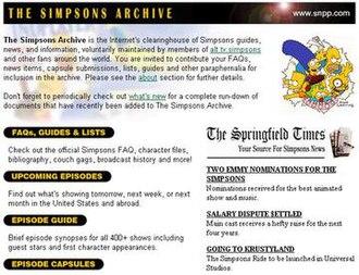The Simpsons Archive - The Simpsons Archive main page.