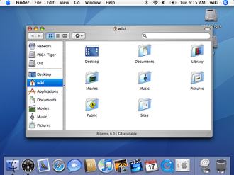 Mac OS X Tiger - Image: Tiger Desk