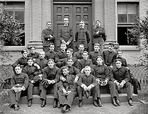 Yates Stirling Jr. - Yates Stirling Jr. (seated, upper left) with members of USNA Class of 1892