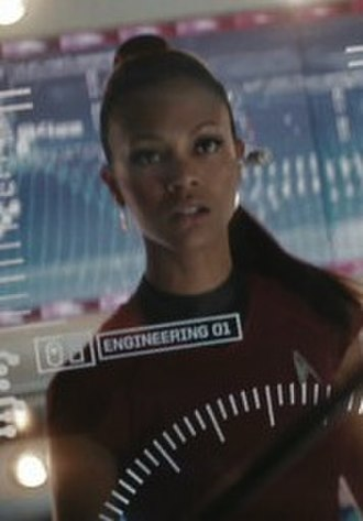 Uhura - Zoe Saldana as Uhura in the 2009 film Star Trek.