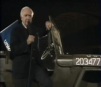 World Liberty Concert - Walter Cronkite as he appeared during the television broadcast of the concert.