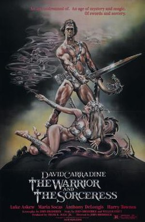 The Warrior and the Sorceress - Theatrical release film poster